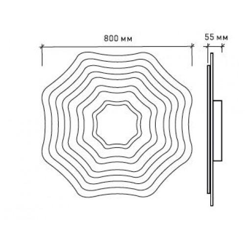 Управляемый светодиодный светильник FLEXION DOUBLE 180W R-800-WHITE/SILVER-220-IP44