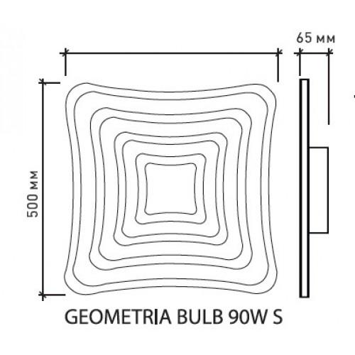 Управляемый светодиодный светильник GEOMETRIA BULB 90W S-500-CLEAR/BULB-220-IP44