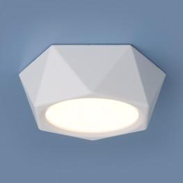 Накладной потолочный светодиодный светильник DLR027 6W 4200K белый матовый