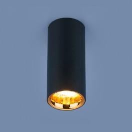 Накладной потолочный светильник DLR030 12W 4200K черный матовый/золото