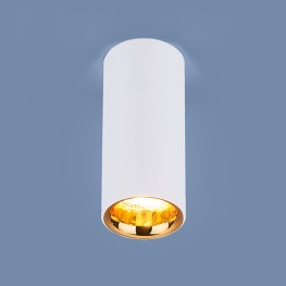 Накладной потолочный светильник DLR030 12W 4200K белый матовый/золото