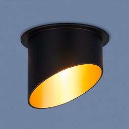 Встраиваемый потолочный светильник 7005 MR16 BK/GD черный/золото