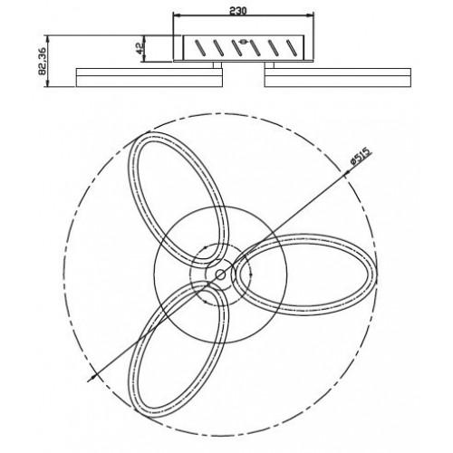 Светодиодная люстра 019-005-0024