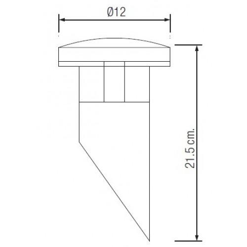 Садово-парковый светодиодный светильник HL211L