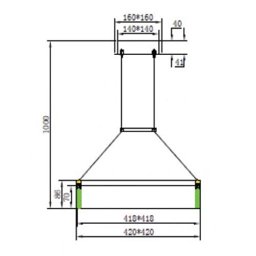 Светодиодная люстра HL863L