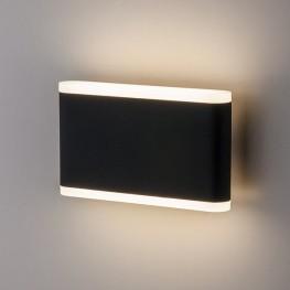 Настенный уличный светодиодный светильник COVER чёрный 1505 TECHNO LED