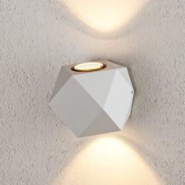 Уличный настенный светодиодный светильник KROKET белый 1565 TECHNO LED