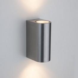 Уличный настенный светодиодный светильник PILLAR хром 1703 TECHNO