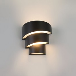 Уличный настенный светодиодный светильник HELIX Черный 1535 TECHNO LED