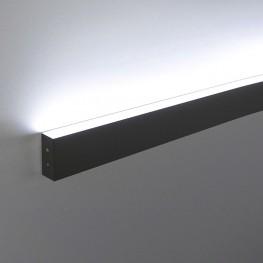 Линейный светодиодный накладной односторонний светильник 103см , 16Вт , черная шагрень LS-02-1-103-16-MSh