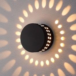 Уличный настенный светодиодный светильник ARKADA черный 1585 TECHNO LED