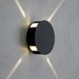Настенный светодиодный светильник BEAM черный 1545 TECHNO LED