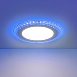 Встраиваемый потолочный светодиодный светильник Elektrostandard DLR024 10W 4200K blue