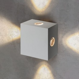 Уличный настенный светодиодный светильник Kvatra белый 1601 TECHNO LED