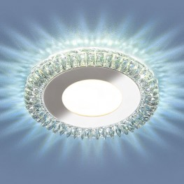 Встраиваемый потолочный светильник со светодиодной подсветкой 9908 LED 8W CL прозрачный