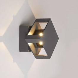 TELLUS графит уличный настенный светодиодный светильник 1606 TECHNO LED