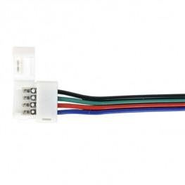 Коннектор 10cm для RGB светодиодной ленты гибкий односторонний