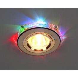 Точечный светильник для натяжных, подвесных и реечных потолков Elektrostandard 2020/2 GD/7-LED (золото / мультиколор)