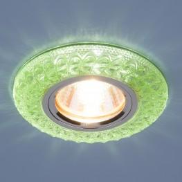 Встраиваемый потолочный светильник со светодиодной подсветкой Elektrostandard 2180 MR16 GR зеленый