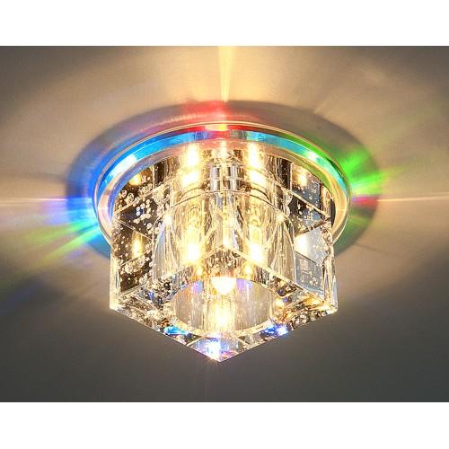 Квадратный светодиодный встраиваемый светильник для натяжных потолков Elektrostandard N4/S MULTI (мульти)