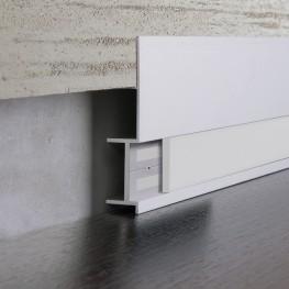 Встраиваемый плинтус  Elektrostandard 7023131 белая вставка ПВХ