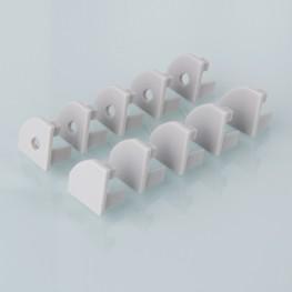 Комплект заглушек для углового алюминиевого профиля для светодиодной ленты (10 пар) Elektrostandard ZLL-2-ALP004