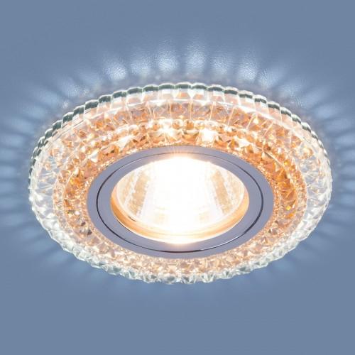 Точечный светодиодный светильник Elektrostandard 2193 MR16 CL/OR прозрачный/оранжевый