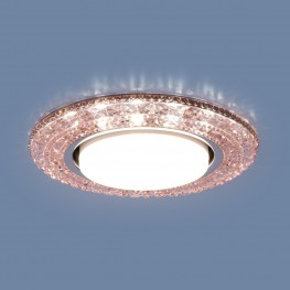 Точечный светильник со светодиодами Elektrostandard 3030 GX53 PK розовый