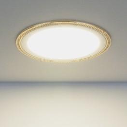 Встраиваемый потолочный светодиодный светильник Elektrostandard DLR006 12W 4200K PS/G перламутровый серебро/золото