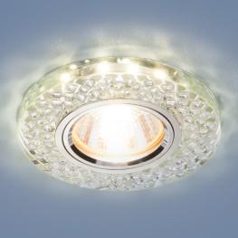Встраиваемый потолочный светильник со светодиодной подсветкой Elektrostandard 2140 MR16 SL зеркальный/серебро