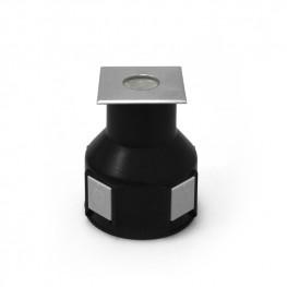 Грунтовый светодиодный светильник B2AS0102-1x2W-CW-30-240V-IP67 симметричный