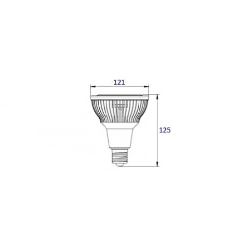 Светодиодная лампа LEDcraft PAR38 9W