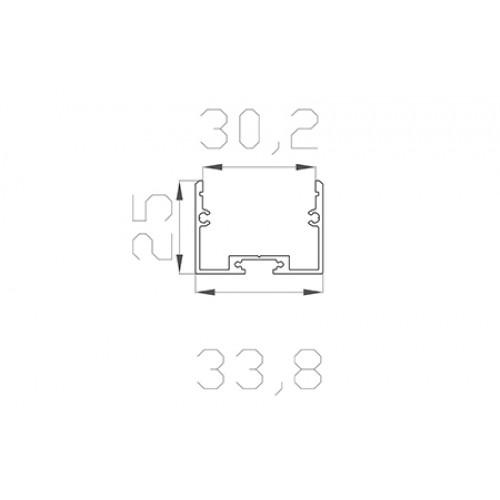 Профиль накладной алюминиевый LC-LP-2534-2 Anod