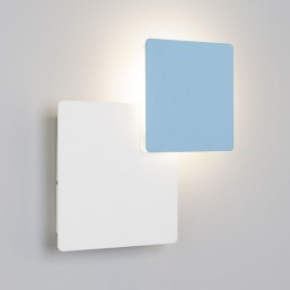 Настенный светодиодный светильник 40136/1 Белый/голубой