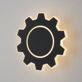 Настенный светодиодный светильник Gear M LED черный