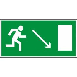 Светодиодный аварийный светильник LC-SIP-E17-3015 Направление к выходу направо вниз 300х150 мм.